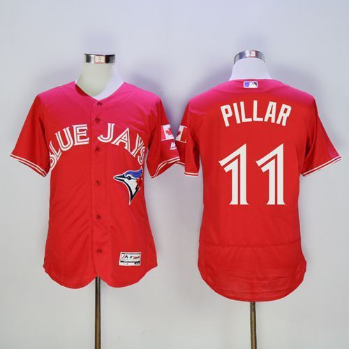 2016 Toronto Blue Jays 11 Kevin Pillar Red Flexbase Authentic Collection Canada Day Stitched Baseball Jersey