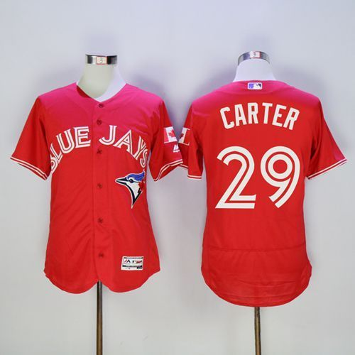 2016 Toronto Blue Jays 29 Joe Carter Red Flexbase Authentic Collection Canada Day Stitched Baseball Jersey