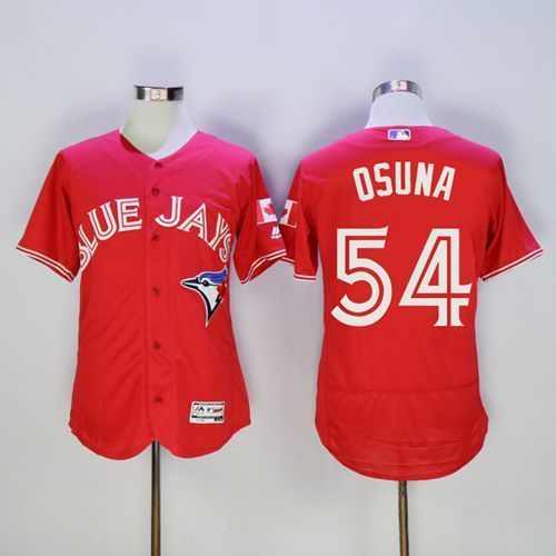 2016 Toronto Blue Jays 54 Roberto Osuna Red Flexbase Authentic Collection Canada Day Stitched Baseball Jersey