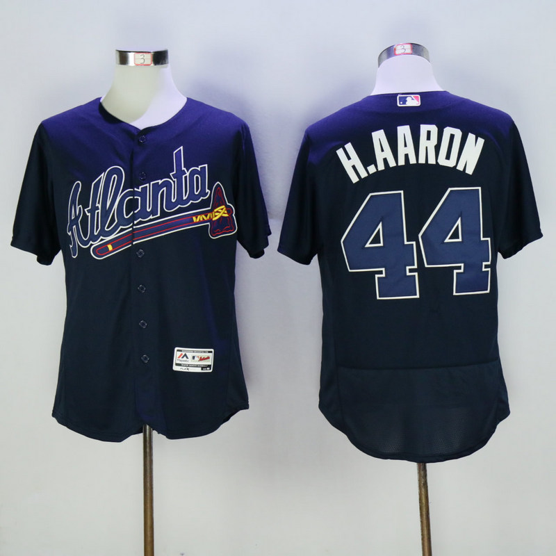2017 MLB Atlanta Braves 44 H.Aaron Blue Elite Jerseys