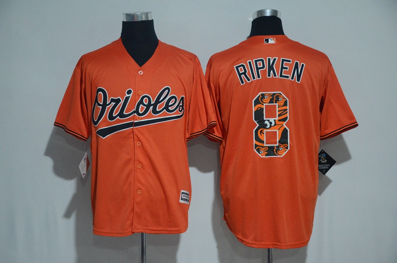 2017 MLB Baltimore Orioles 8 Ripken Orange Fashion Edition Jerseys