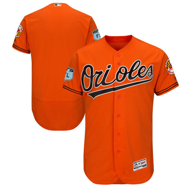 2017 MLB Baltimore Orioles Blank Orange Jerseys