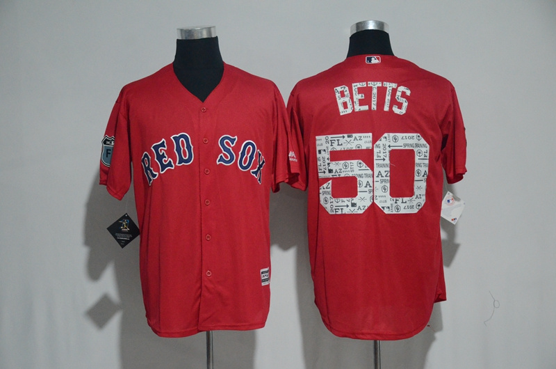 2017 MLB Boston Red Sox 50 Betts Red Fashion Edition Jerseys