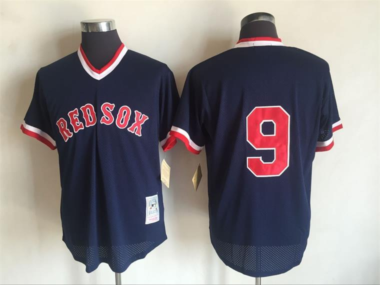 2017 MLB Boston Red Sox 9 Ted Williams Blue Throwback Jerseys