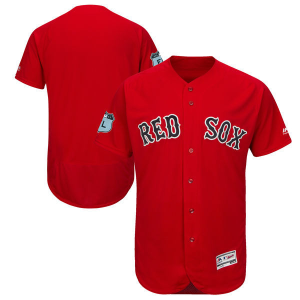 2017 MLB Boston Red Sox Blank Red Jerseys