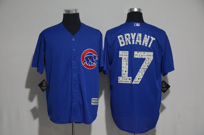2017 MLB Chicago Cubs 17 Bryant Blue Fashion Edition Jerseys