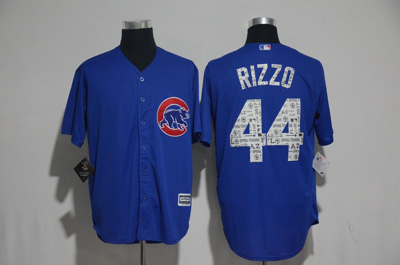 2017 MLB Chicago Cubs 44 Rizzo Blue Fashion Edition Jerseys