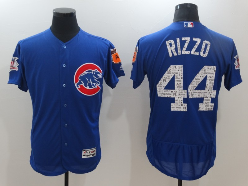 2017 MLB Chicago Cubs 44 Rizzo Blue Jerseys