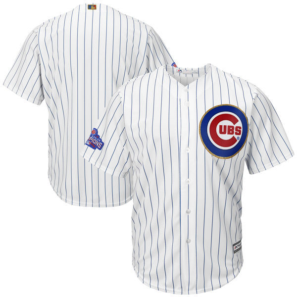 2017 MLB Chicago Cubs Blank CUBS White Gold Program Game Jersey