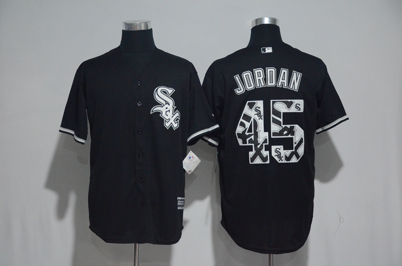 2017 MLB Chicago White Sox 45 Jordan Black Fashion Edition Jerseys