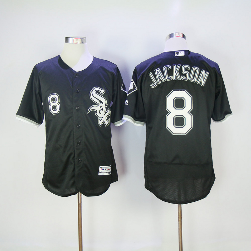 2017 MLB Chicago White Sox 8 Jackson Black Elite Jerseys