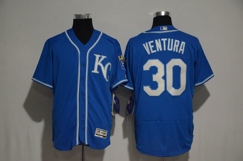 2017 MLB Kansas City Royals 30 Yordano Ventura Blue jerseys2