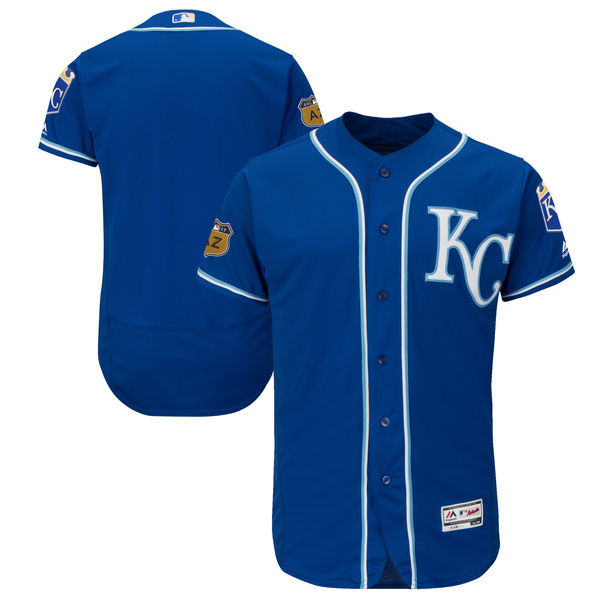 2017 MLB Kansas City Royals Blank Blue Jerseys