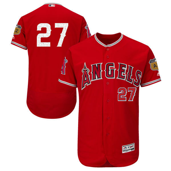 2017 MLB Los Angeles Angels 27 Red Jerseys