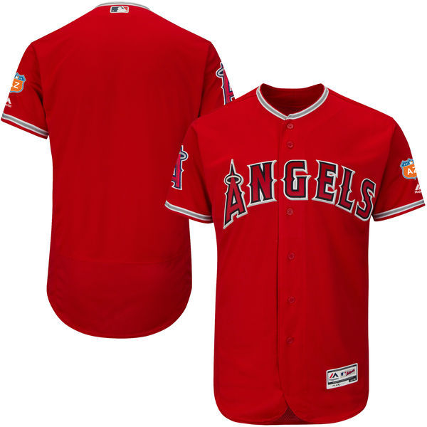 2017 MLB Los Angeles Angels Blank Red Jerseys