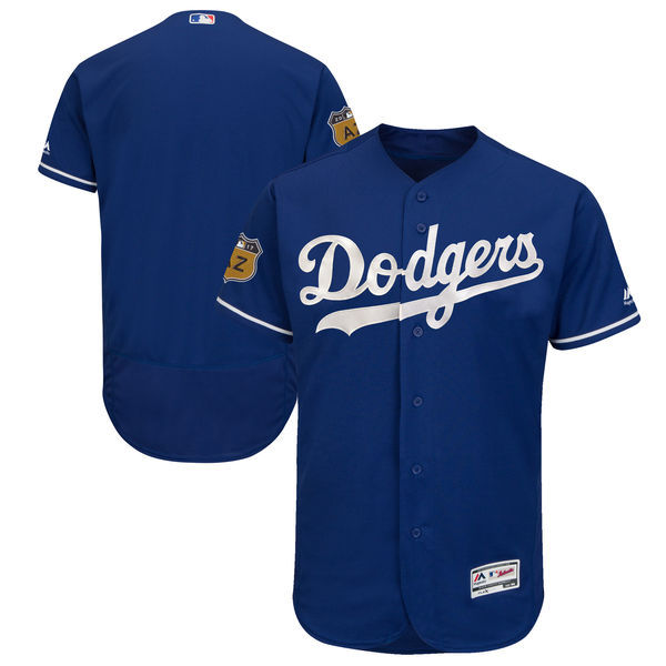 2017 MLB Los Angeles Dodgers Blank Blue Jerseys