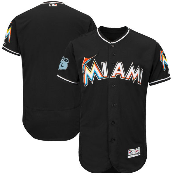 2017 MLB Miami Marlins Blank Black Jerseys