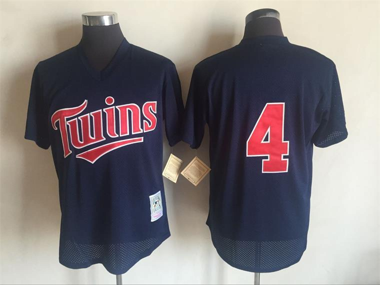 2017 MLB Minnesota Twins 4 Paul Molitor Blue Throwback Jerseys
