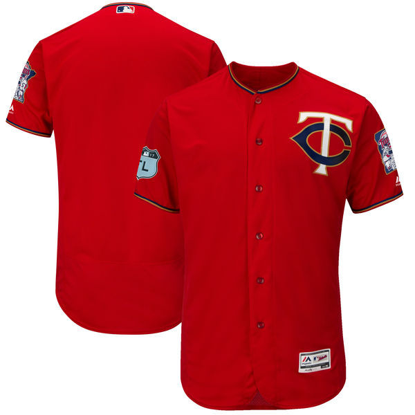 2017 MLB Minnesota Twins Blank Red Jerseys