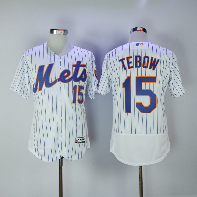 2017 MLB New York Mets 15 Tebow White Elite Jerseys
