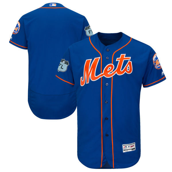 2017 MLB New York Mets Blank Blue Jerseys