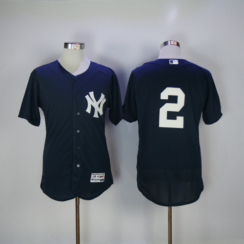 2017 MLB New York Yankees 2 Jeter Blue Elite Jerseys