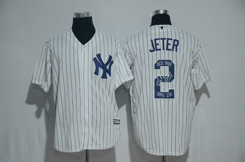 2017 MLB New York Yankees 2 Jeter White Fashion Edition Jerseys