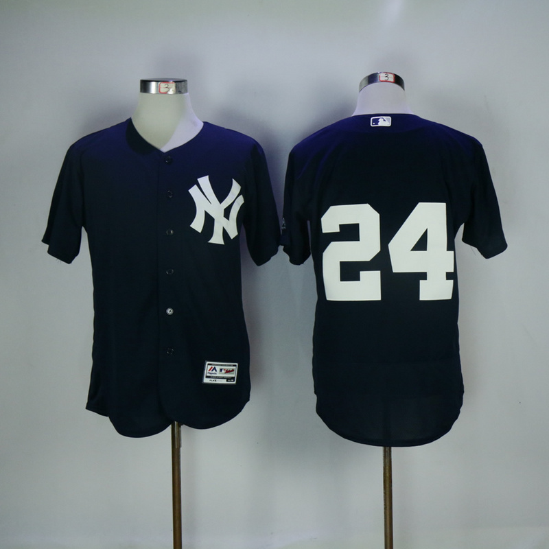 2017 MLB New York Yankees 24 Gary Sanchez Blue Elite Jerseys