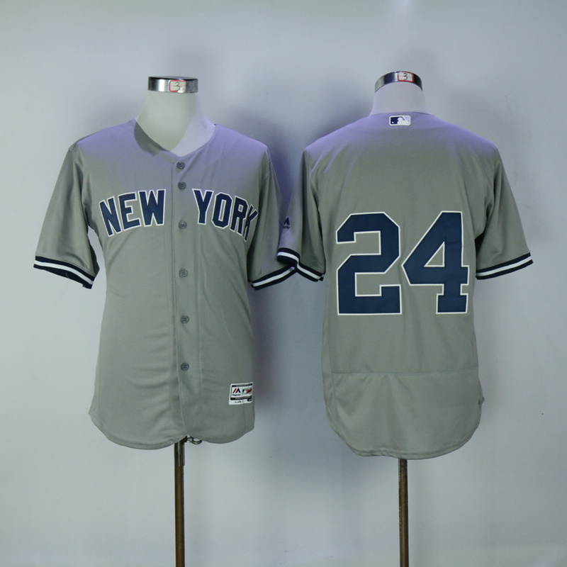2017 MLB New York Yankees 24 Gary Sanchez Grey Elite Jerseys