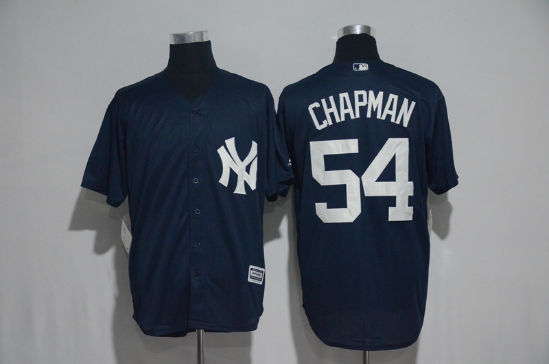 2017 MLB New York Yankees 54 Chapman Blue Jerseys