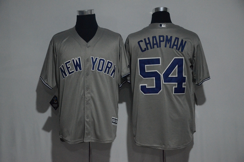 2017 MLB New York Yankees 54 Chapman Grey Jerseys