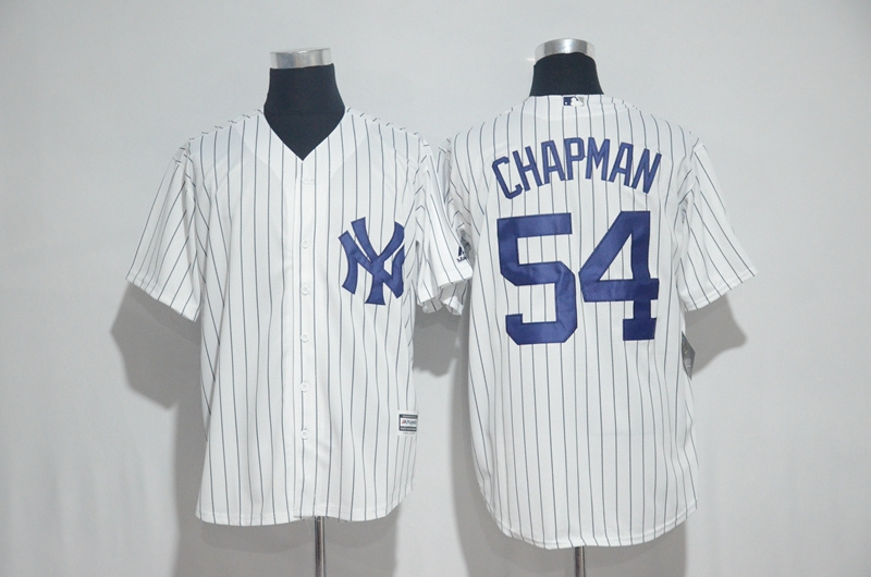 2017 MLB New York Yankees 54 Chapman White Jerseys