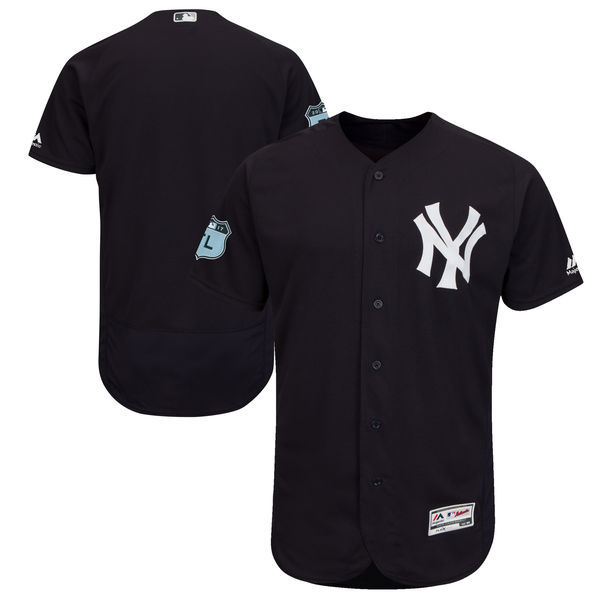 2017 MLB New York Yankees Blank Black Jerseys