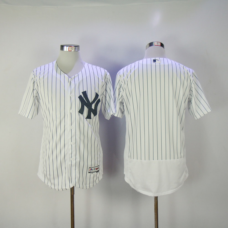 2017 MLB New York Yankees Blank White Elite Jerseys