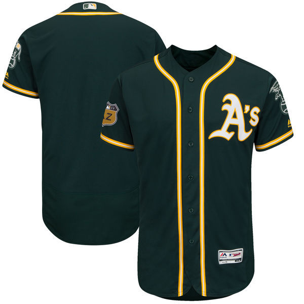 2017 MLB Oakland Athletics Blank Green Jerseys