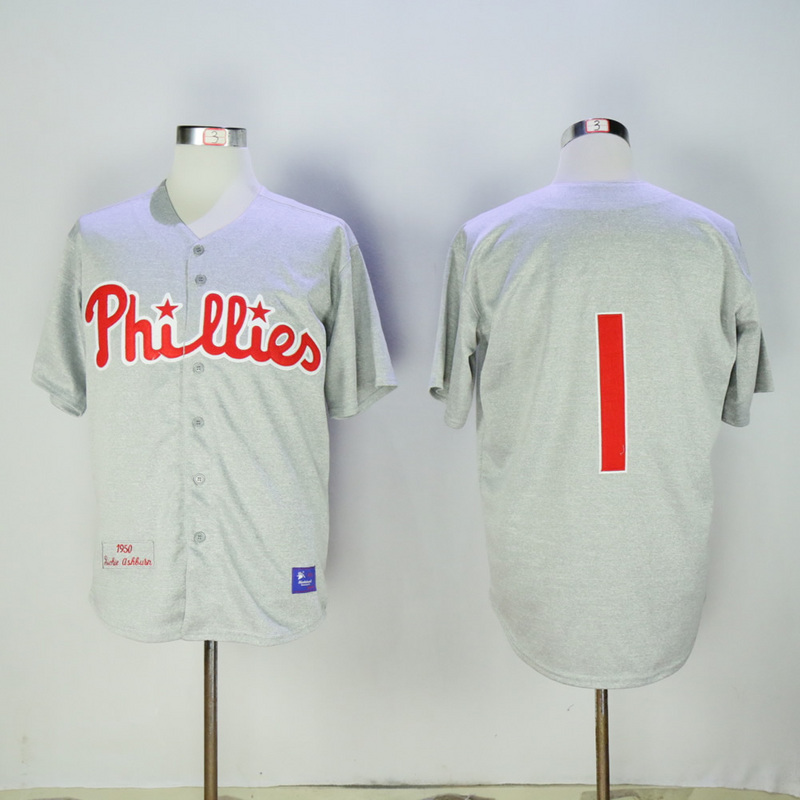 2017 MLB Philadelphia Phillies 1 Grey Jerseys