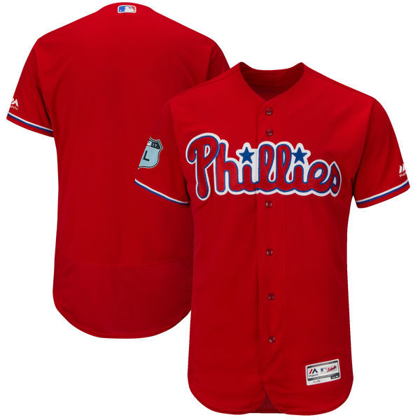 2017 MLB Philadelphia Phillies Blank Red Jerseys