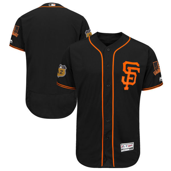 2017 MLB San Francisco Giants Blank Black Jerseys