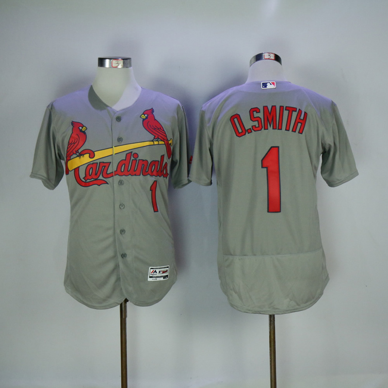 2017 MLB St. Louis Cardinals 1 O.Smith Grey Elite Jerseys