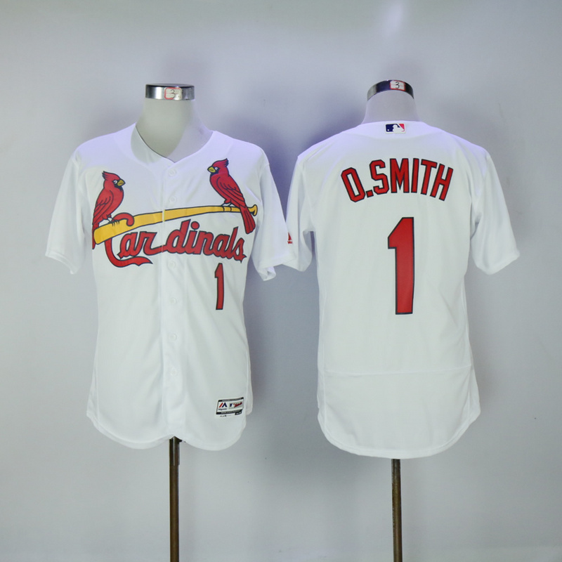 2017 MLB St. Louis Cardinals 1 O.Smith White Elite Jerseys