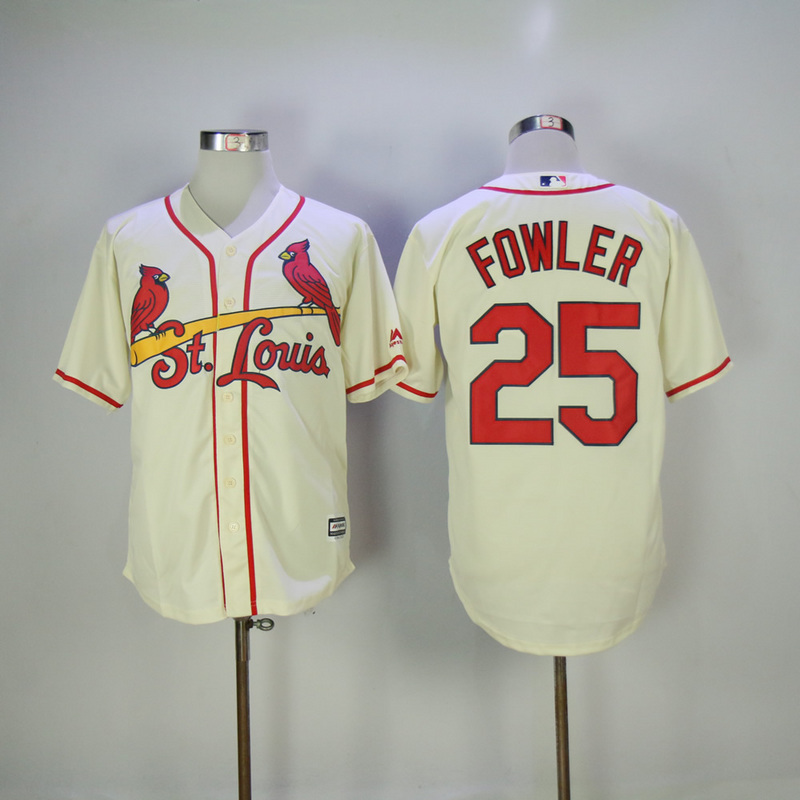 2017 MLB St. Louis Cardinals 25 Fowler Gream Game Jersey