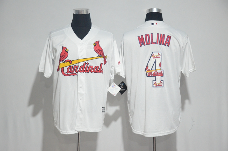 2017 MLB St. Louis Cardinals 4 Molina White Fashion Edition Jerseys