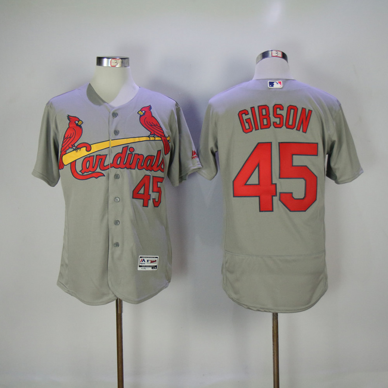 2017 MLB St. Louis Cardinals 45 Gibson Grey Elite Jerseys