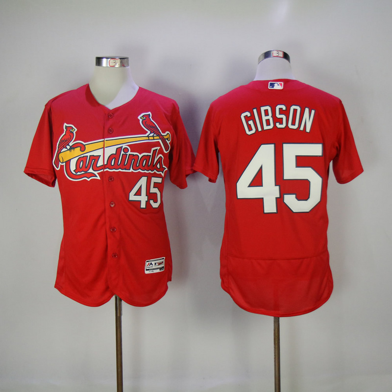 2017 MLB St. Louis Cardinals 45 Gibson Red Elite Jerseys