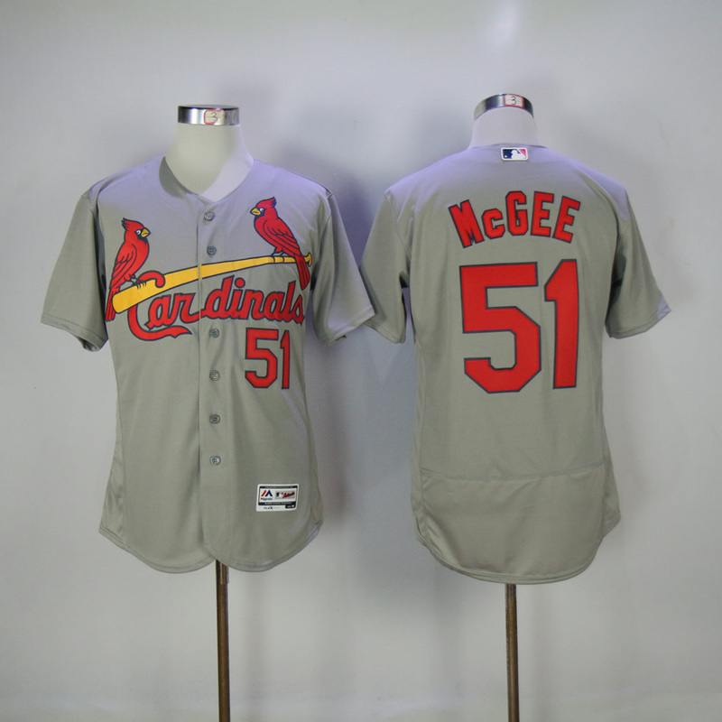 2017 MLB St. Louis Cardinals 51 Mcgee Grey Elite Jerseys