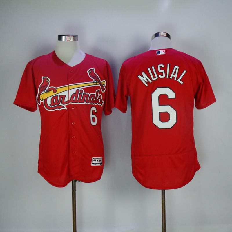 2017 MLB St. Louis Cardinals 6 Musial Red Elite Jerseys