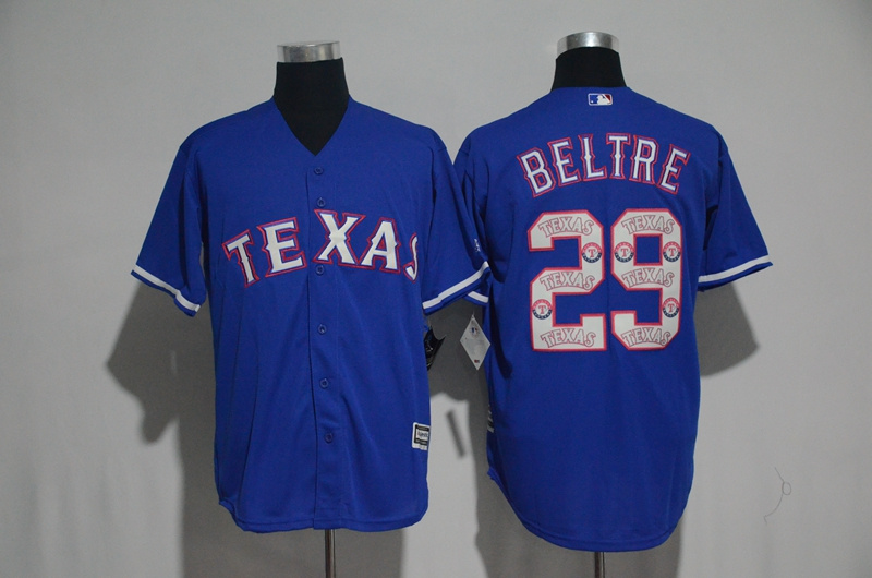 2017 MLB Texas Rangers 29 Beltre Blue Fashion Edition Jerseys
