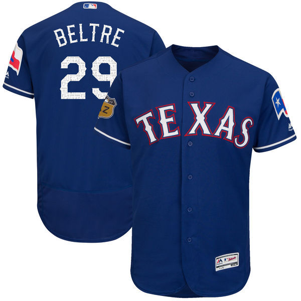 2017 MLB Texas Rangers 29 Beltre Blue Jerseys