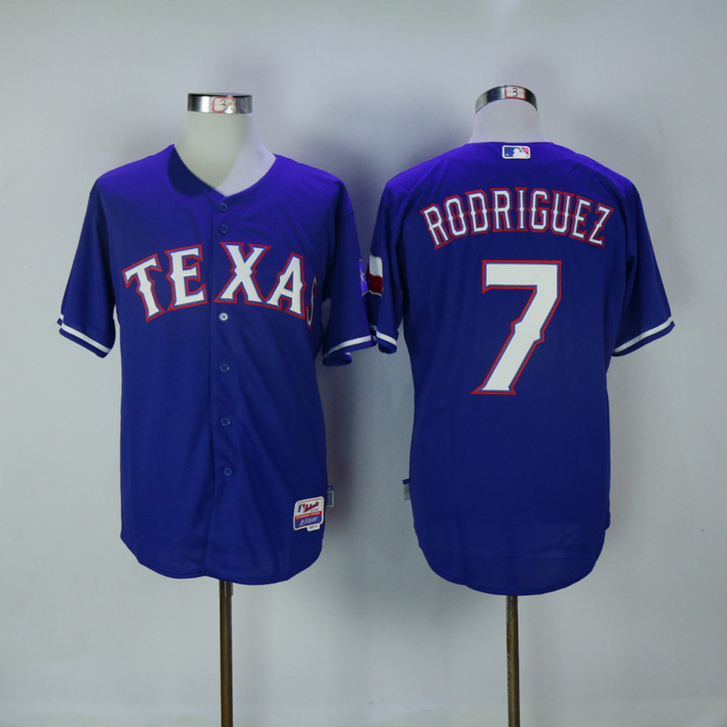 2017 MLB Texas Rangers 7 Rodriguez Blue Jerseys
