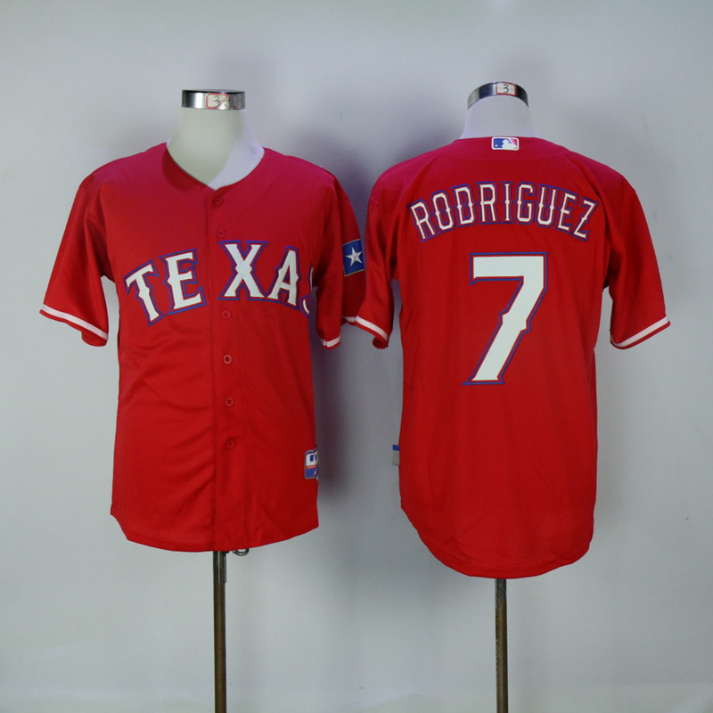 2017 MLB Texas Rangers 7 Rodriguez Red Jerseys